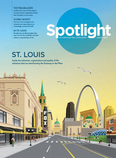 Spotlight, An American Way Supplement feature on St. Louis
