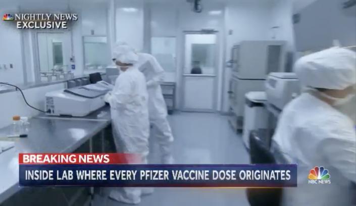 NBC Nightly News inside Pfizer Labs
