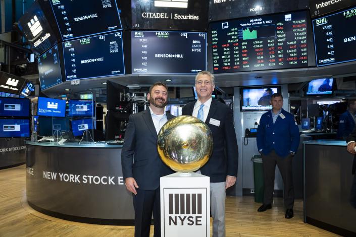 Matt Crisp, Benson Hill CEO, & Donn Rubin, BioSTL President & CEO, at the NYSE