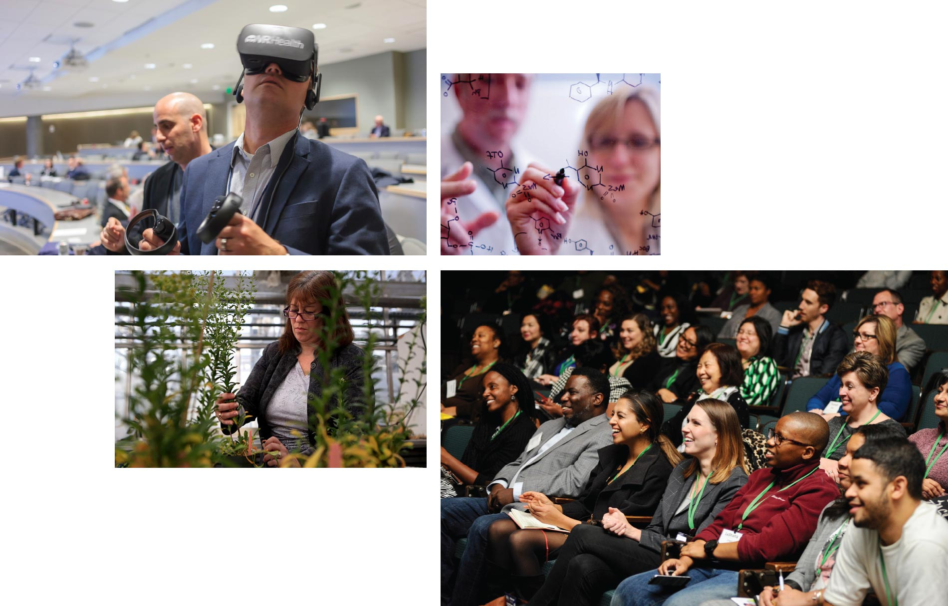 Mix of tech, biotech, and event images